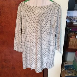 J Jill Ponte Windowpane Tunic Dress
